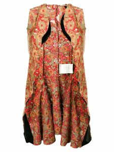 Comme Des Garçons Pre-Owned heavy embroidery sleeveless jacket -