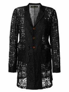 Comme Des Garçons Pre-Owned midi lace jacket - Black