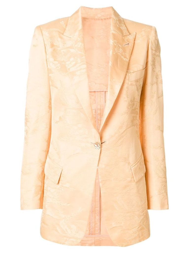 Jean Paul Gaultier Pre-Owned floral jacquard blazer - Pink