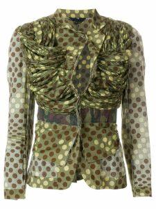 Comme Des Garçons Pre-Owned camouflage polka dot jacket - Green