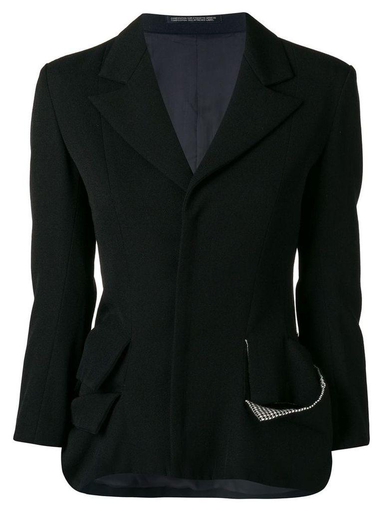 Yohji Yamamoto Vintage deconstructed blazer - Black