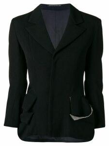 YOHJI YAMAMOTO PRE-OWNED deconstructed blazer - Black