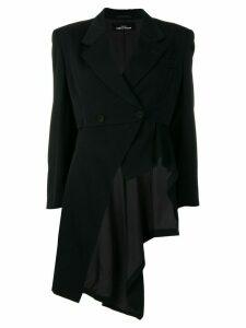 Comme Des Garçons Pre-Owned 1998 asymmetric coat-tail - Black