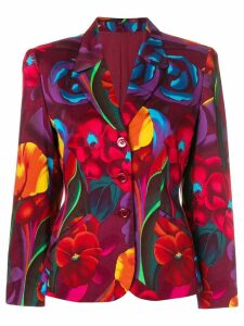 Kenzo Pre-Owned flower print blazer - Multicolour
