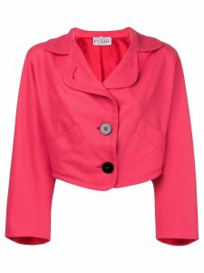 Gianfranco Ferré Pre-Owned oversized cropped blazer - PINK
