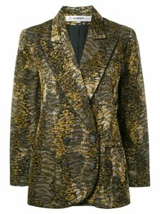 Jean Louis Scherrer Pre-Owned 1990's tiger print blazer - Green