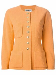 Chanel Pre-Owned round neck jacket - Yellow