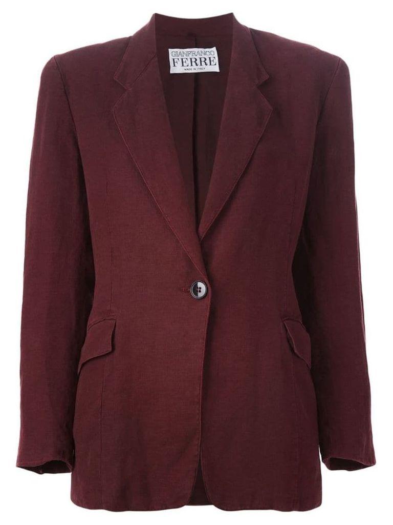 Gianfranco Ferre Pre-Owned single button blazer - Red