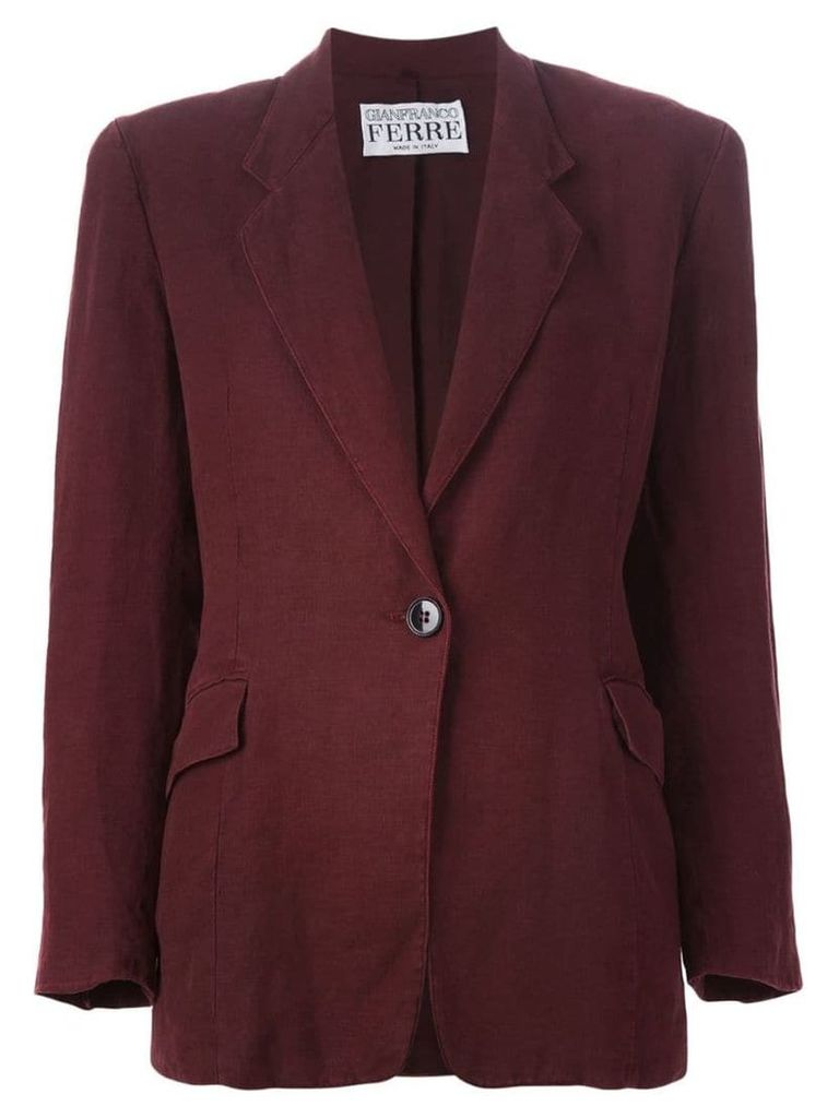 Gianfranco Ferre Vintage single button blazer - Red