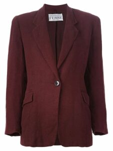 Gianfranco Ferre Pre-Owned single button blazer - Red