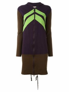 Jean Paul Gaultier Pre-Owned colour block hooded jacket - Brown