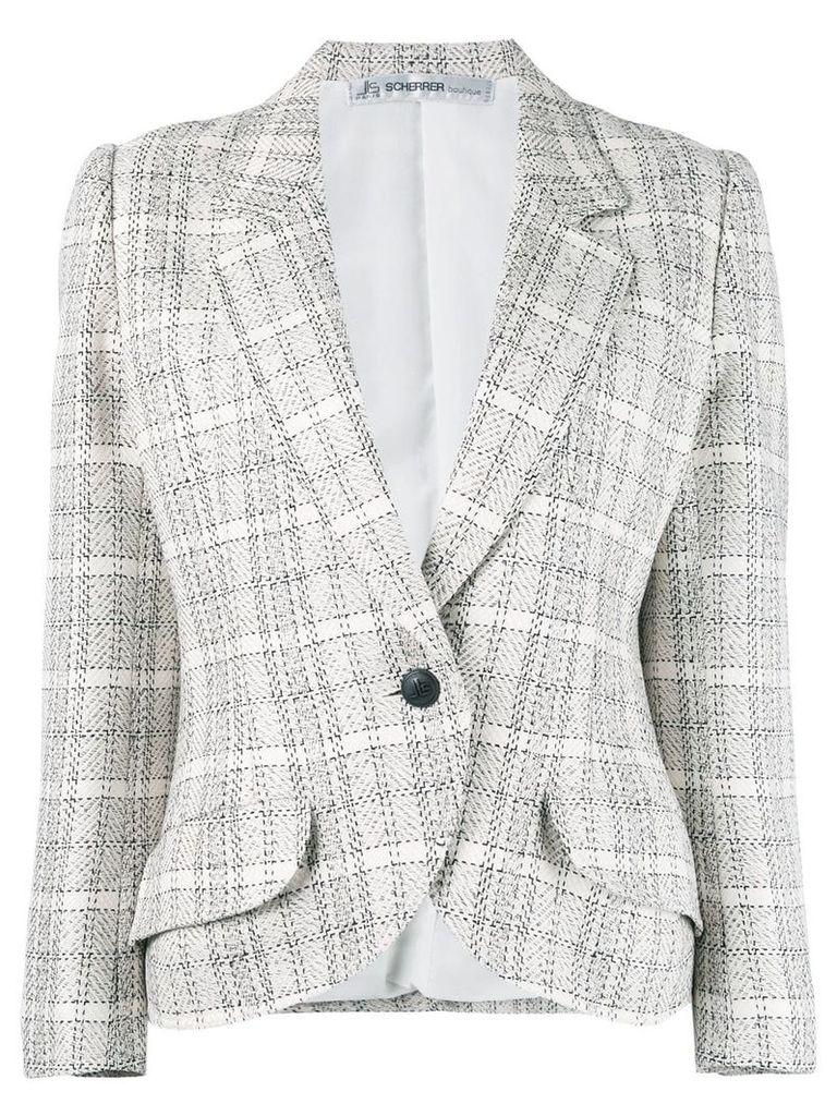 Jean Louis Scherrer Vintage checked blazer - Neutrals