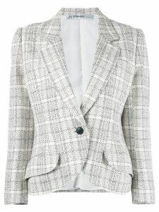 Jean Louis Scherrer Pre-Owned checked blazer - NEUTRALS