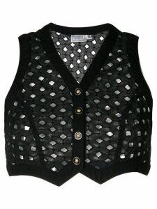 Versace Pre-Owned Punk Cutout waistcoat - Black