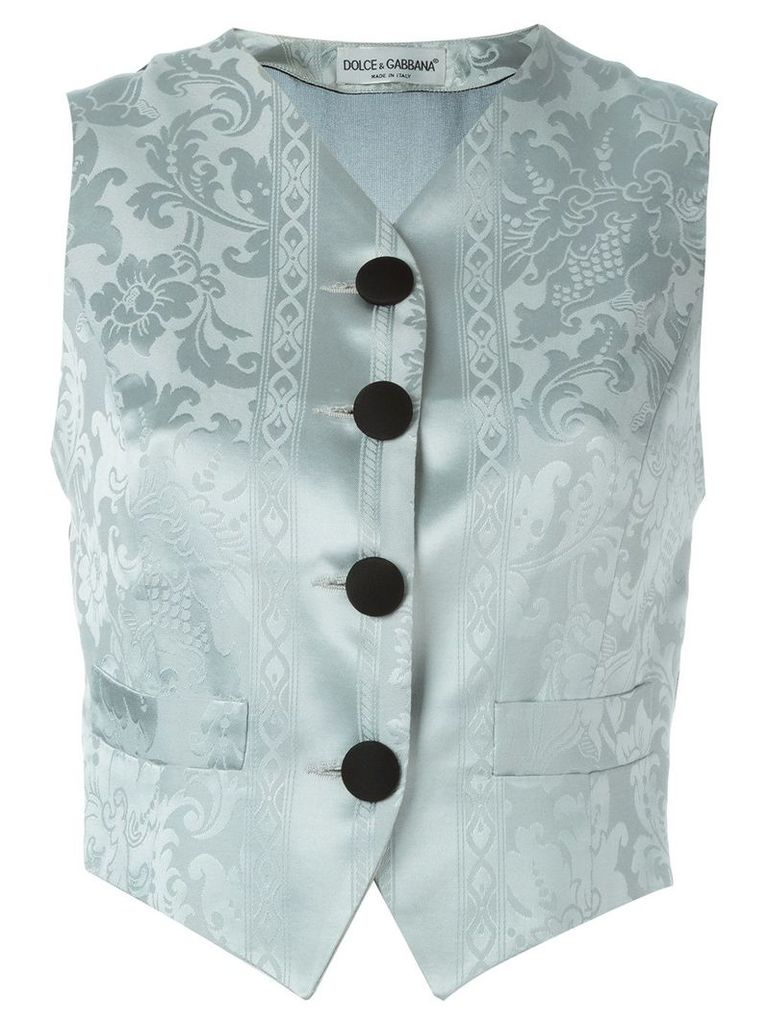 Dolce & Gabbana Vintage jacquard waistcoat - Blue