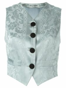 Dolce & Gabbana Pre-Owned jacquard waistcoat - Blue