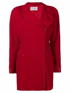 Gianfranco Ferre Pre-Owned off-center zipped jacket - Red