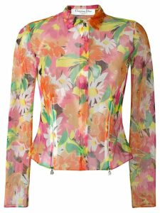 Christian Dior Pre-Owned sheer floral print jacket - Multicolour