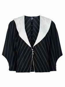 Emanuel Ungaro Pre-Owned striped jacket - Black