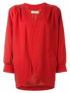 Yves Saint Laurent Pre-Owned collarless jacket - Red