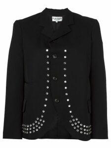 Comme Des Garçons Pre-Owned Robe de Chambre embellished blazer - Black