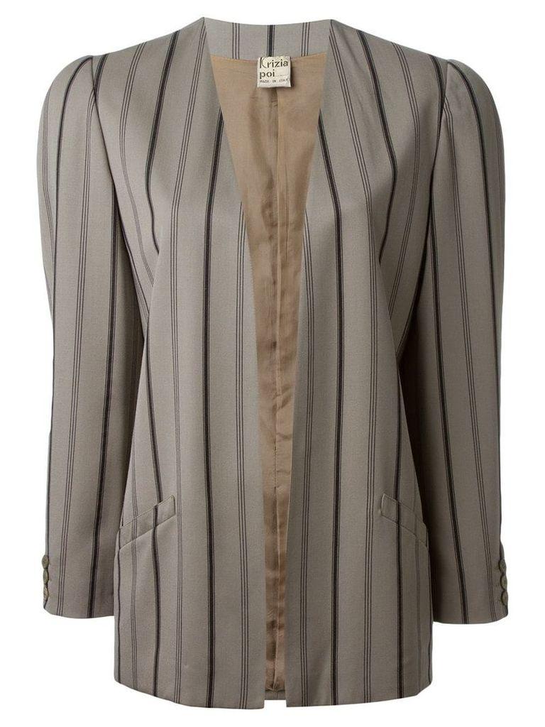 Krizia Vintage pinstriped blazer - Grey