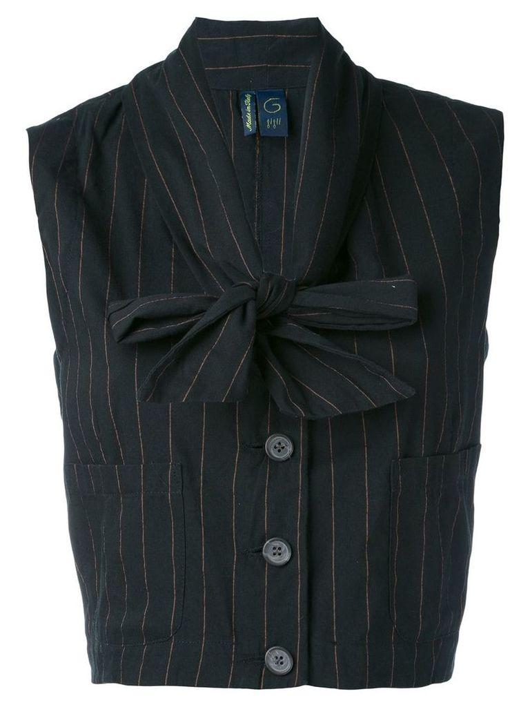 Romeo Gigli Vintage 1990's cropped waistcoat - Black