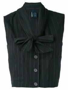 Romeo Gigli Pre-Owned 1990's cropped waistcoat - Black
