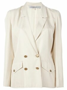 Jean Louis Scherrer Pre-Owned double breasted blazer - Neutrals