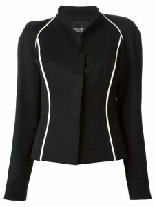 Jean Louis Scherrer Pre-Owned contrast trim jacket - Black