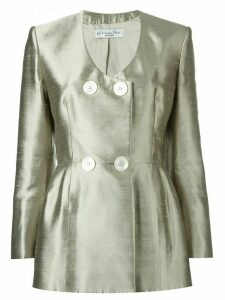 Christian Dior Pre-Owned double breasted jacket - Metallic
