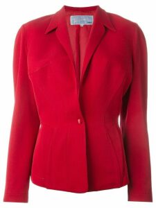 Thierry Mugler Pre-Owned structured shoulder blazer