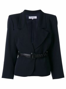 Yves Saint Laurent Pre-Owned belted blazer - Blue