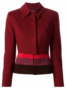 Jean Louis Scherrer Pre-Owned colour block jacket - Red