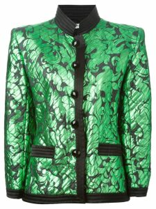 Yves Saint Laurent Pre-Owned fitted jacquard jacket - Green