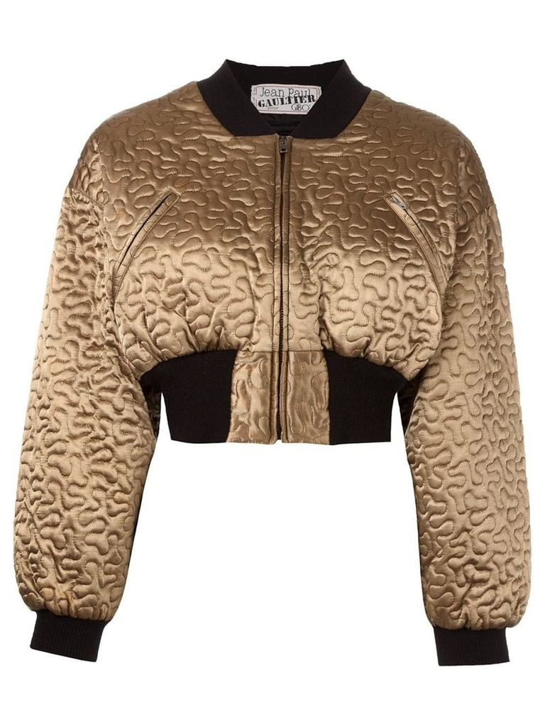 Jean Paul Gaultier Vintage cropped bomber jacket - Metallic