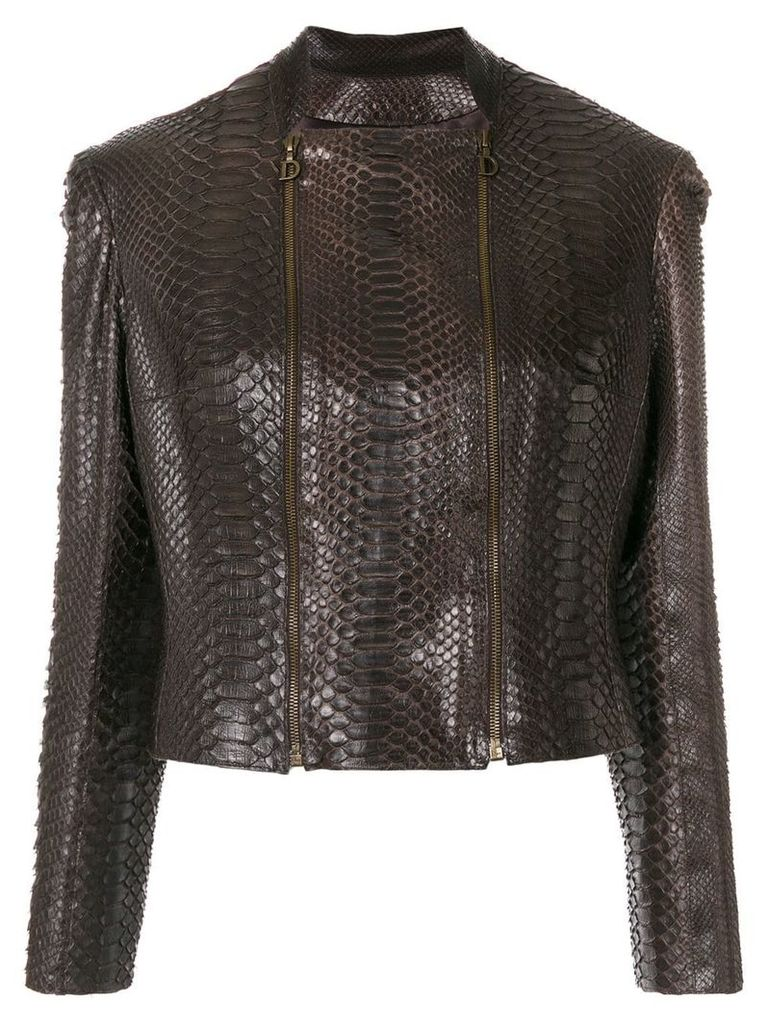 Christian Dior Vintage square neck fitted jacket - Brown