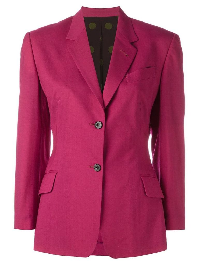 Jean Paul Gaultier Pre-Owned dot print lined blazer - PINK