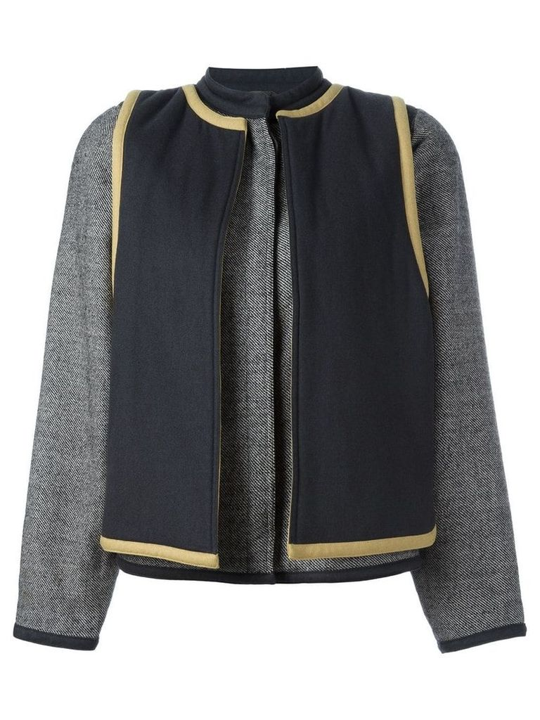 Versace Vintage contrast layer jacket - Grey
