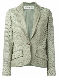 Christian Dior Pre-Owned perforated snakeskin effect jacket - Green