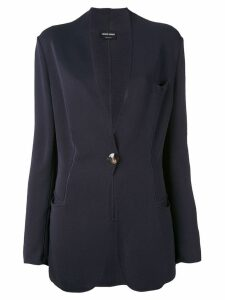 Giorgio Armani Pre-Owned scalloped blazer - Blue