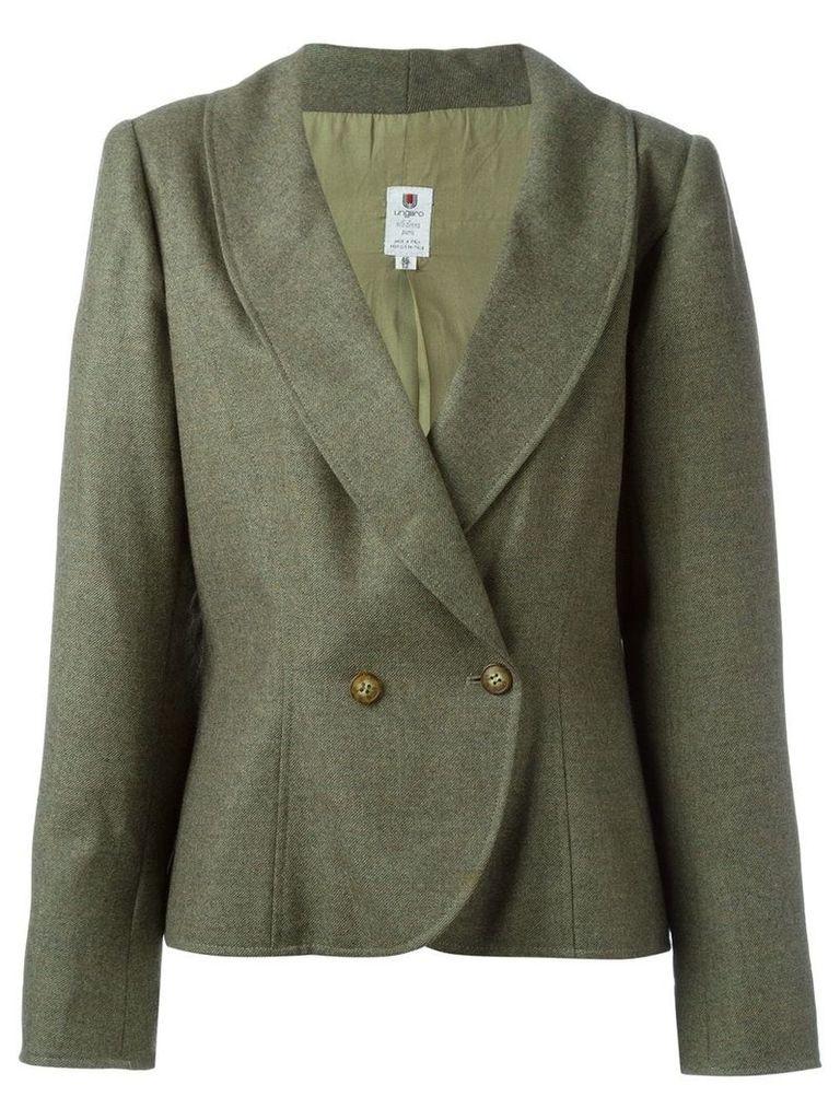 Emanuel Ungaro Vintage curved hem blazer - Green