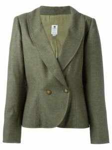 EMANUEL UNGARO PRE-OWNED curved hem blazer - Green