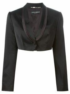 Dolce & Gabbana Pre-Owned cropped tuxedo blazer - Black