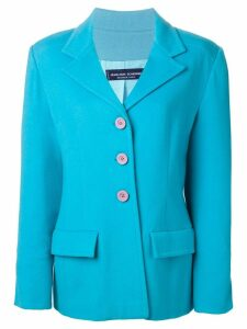 Jean Louis Scherrer Pre-Owned boxy fit jacket - Blue