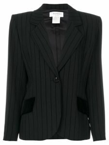 Yves Saint Laurent Pre-Owned striped blazer - Black
