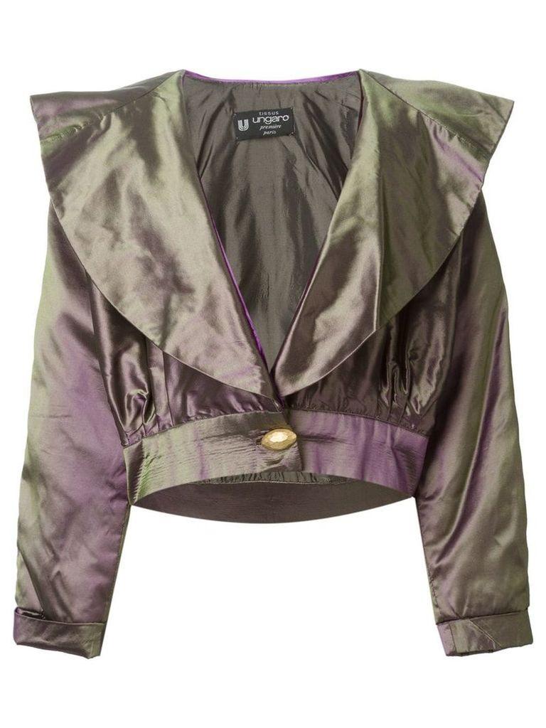 Emanuel Ungaro Vintage metallic cropped jacket