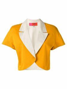 Emanuel Ungaro Pre-Owned colour block bolero jacket - Orange