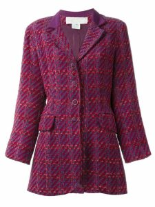Nina Ricci Pre-Owned checked jacket - Pink