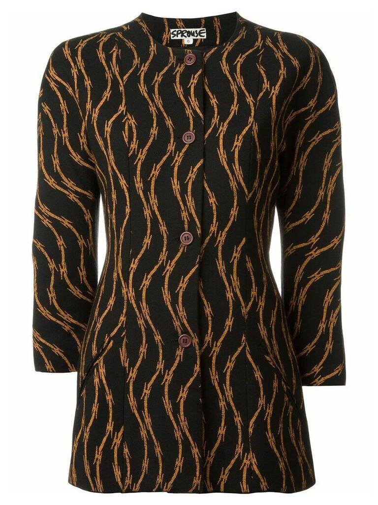 Stephen Sprouse Vintage razor wire print jacket - Black